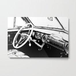 Vintage Cadillac Interior Metal Print
