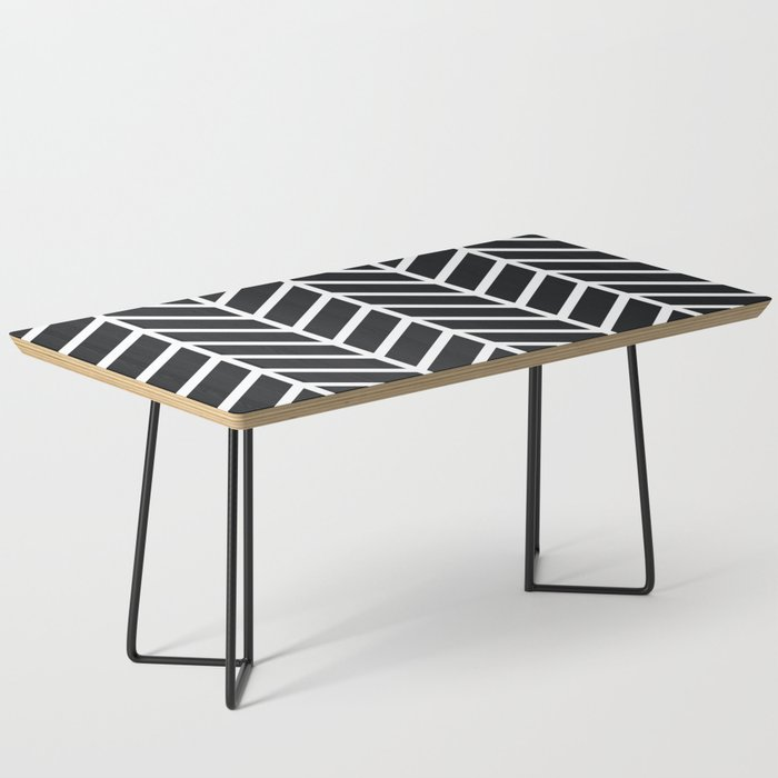 Black And White Striped Round Coffee Table: Stripe In Black And White Coffee Table By Cuckooville