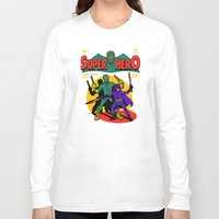 superhero Long Sleeve T-shirts featuring Superhero Comic by harebrained