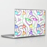 kittens Laptop & iPad Skins featuring Lollipop Kittens by FarrellArt