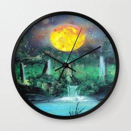 Spay Paint Art- Scorching Sun Wall Clock