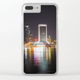 Jacksonville Night Skyline Clear iPhone Case
