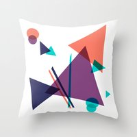 Throw Pillows featuring Triangle 16 Pattern by J.MK