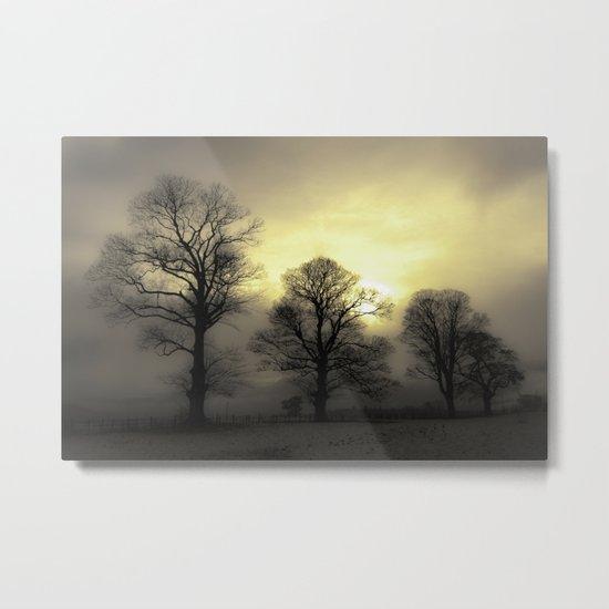 Golden Tree Landscape Metal Print