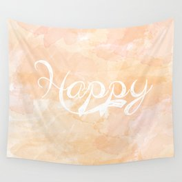 Watercolor Happy Wall Tapestry