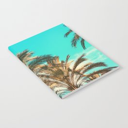 Tropical Palm Trees  - Vintage Turquoise Sky Notebook