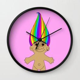 Rainbow Troll Wall Clock
