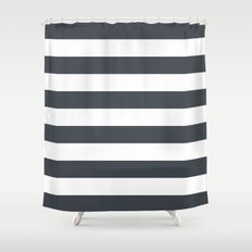 Charcoal Stripes Shower Curtain