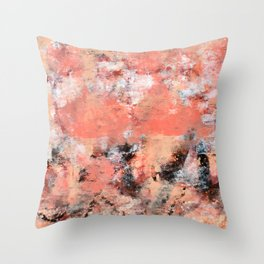 11.3: A bright abstract contemporary design in pinks black and white by Alyssa Hamilton Art  Throw Pillow