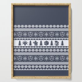 """Roll for Initiative Fair Isle in """"Noel"""" Serving Tray"""