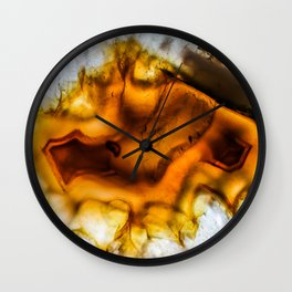 Honey Amber Agate frozen in time Wall Clock