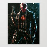 red hood Canvas Prints featuring Red Hood by Lenin Lavina