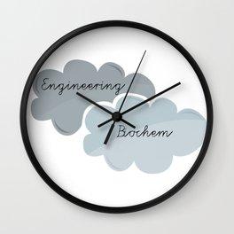 """I'm Engineering. She's Biochem."" Wall Clock"
