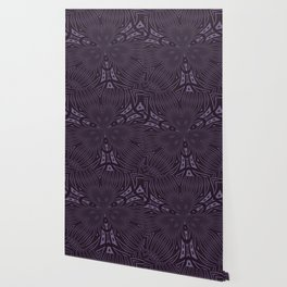 Pale Aubergine and Eggplant Abstract Pattern Kaleidescope Wallpaper
