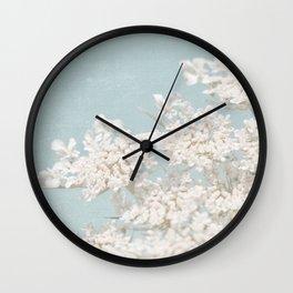 Pale Aqua: Dreaming of Spring Wall Clock
