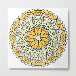 Hello Morning Mandala #5 Metal Print