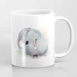 Brushing Elephant Coffee Mug