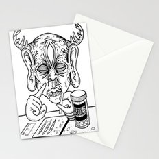 death is a junkie Stationery Cards