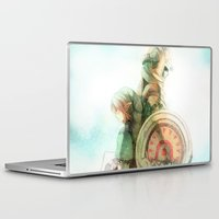 zelda Laptop & iPad Skins featuring Zelda: Lineage by Aly K. Sasagawa