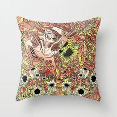 Comes in Three Throw Pillow