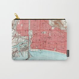 Vintage Map of Long Beach California (1949) 3 Carry-All Pouch