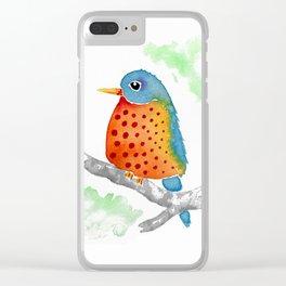Polka Dot Bluebird Clear iPhone Case
