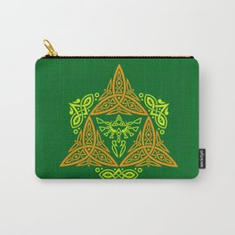 GREEN ZELDA TRIFORCE Carry-All Pouch