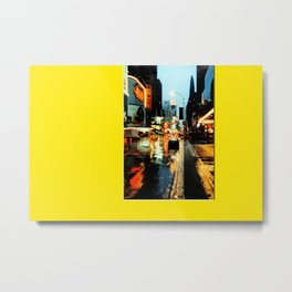 Americana - A rainy Day in Manhatten - NYC Metal Print