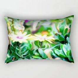 Yellow Flower Art Rectangular Pillow