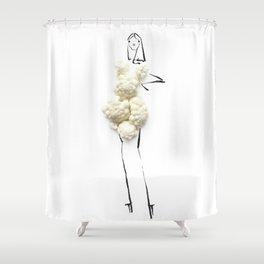 Edible Ensembles: Cauliflower Shower Curtain