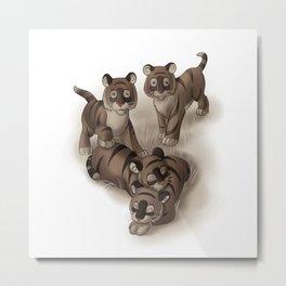 Baby Tigers Metal Print