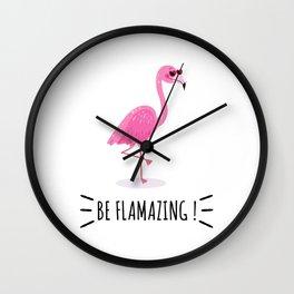 Be Flamazing Wall Clock