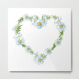 Heart of shasta daisy flowers Metal Print