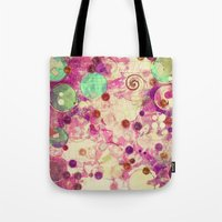 bubblegum Tote Bags featuring Bubblegum by SensualPatterns