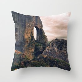 Defeated by Time Throw Pillow
