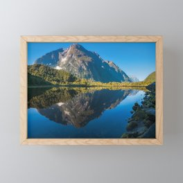 Mountain View Reflections in Water at Milford Sound Framed Mini Art Print