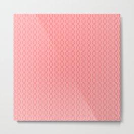 Geometric pink pixel pattern Metal Print