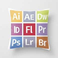 Adobe Icons Throw Pillow