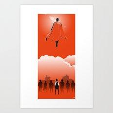 Flyin' Alien (Heroes & Movies) Art Print