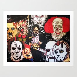 Hollywood Horror Art Print