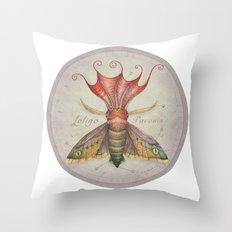 Squid Moth Throw Pillow