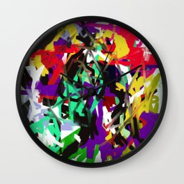 "Abstract ""Too Busy"" Wall Clock"