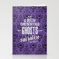 haunted mansion Stationery Cards featuring Haunted Mansion - Grim Grinning Ghosts by tonysimonetta