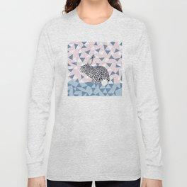 Cute Rabbit Leopard Pattern Design Long Sleeve T-shirt