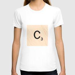 Scrabble Tile C - Large Scrabble Letters T-shirt