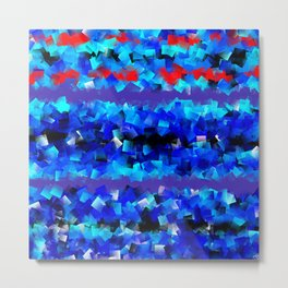 Blue lights and red birds Metal Print