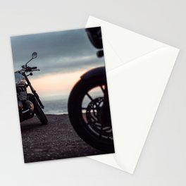 Moto sunset Stationery Cards