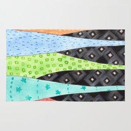 Six Hanging patterned sculptures Rug