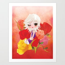 I've Been Kissed by a Rose Art Print