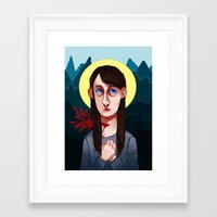 abigail larson Framed Art Prints featuring Abigail Hobbs by nucleir